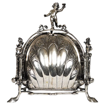 Antique Silver Muffin Bun Warmer Germany, 19th Century