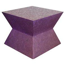 Carlo Rampazzi Italian Side Coffee Table Rolling Purple Geometric