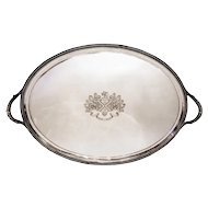 Paul Storr Antique Silver Tray Large