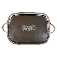 Paul Storr Tray Silver Rectangular ca 1816 Antique