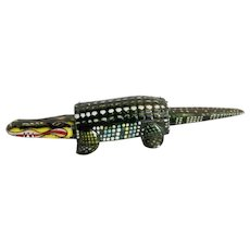Vintage Tin Alligator Noddler Toy