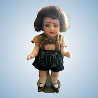Angry German All Bisque Doll