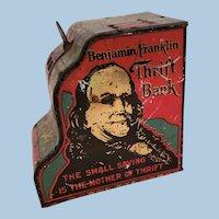 Benjamin Franklin Vintage Tin Cash Register Bank