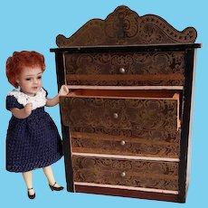 Biedermeier Doll House Size Dresser