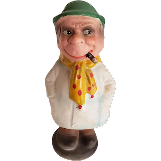 Old Bobblehead Man with Cigar