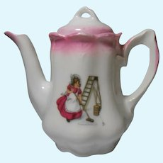 Busy Girl Pink Lustre Child's Teapot