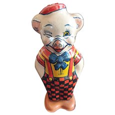Vintage Tin Dancing Pig by Chein