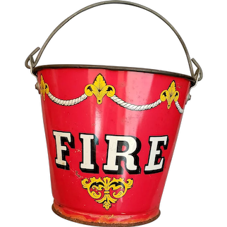 Child's Sand Pail Fire Bucket