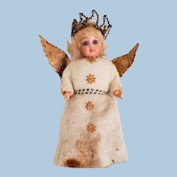 Very Old Bisque Head Christmas Angel Doll