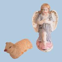 Praying Holiday Angel & Lamb