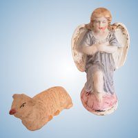 Praying Holiday Angel & Lamb