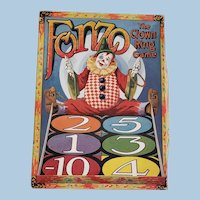 Awesome Vintage Fonzo the Clown Ring Toss Game