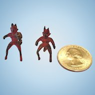 Mini Bronze Pair of Devils