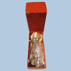Glass Figural Doll Perfume Bottle