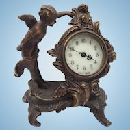 Beautiful Antique French Cherub Mantle Clock