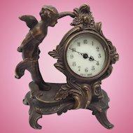 Beautiful Antique French Cherub Mantle Clock