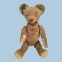 German Well Loved Antique Mohair Teddy Bear