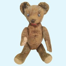 German Well Loved Antique Mohair Teddy Bear