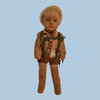 German Boy Cloth Doll