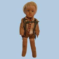 German Boy Cloth Doll