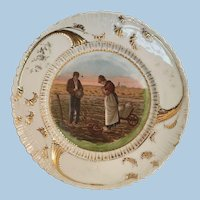 O.S. Prussia Gleaners Scene Plate