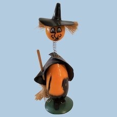 Halloween Bobble Head Witch Clicker Toy
