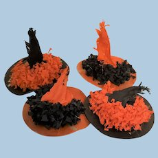 Miniature Vintage Halloween Witch Hat Party Favors