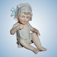 Heubach Piano Baby in Bonnett