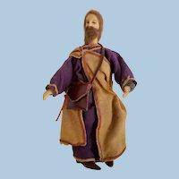 Jesus Wax & Wood Nativity Figurine