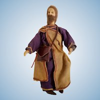 Jesus Wax & Wood Nativity Figurine