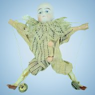 Bisque Head Jumping Jack Puppet Doll