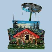 Lovely German Christmas Tin Toy Knusperhauschen Pretzel House