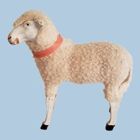 Larger Size Putz Sheep for Doll