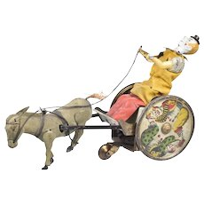 Lehman Windup Tin Toy The Balky Mule