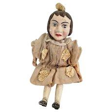 Antique Little Girl Puppet