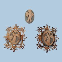 Miniature Doll House size Cameo Pictures