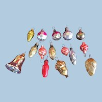 Tiny Feather Tree Assorted Ornaments