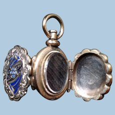 Miniature Victorian Hair Memento Mourning Locket