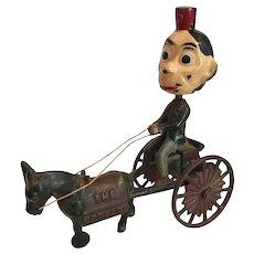 Kenton Cast Iron Nodder Toy Happy Hooligan