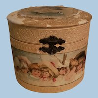 Antique Doll Size Hat Box