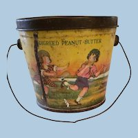 Pedigreed Peanut Butter Tin with Litho of Children