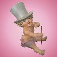 Adorable Unusual Pian Baby Boy in Top Hat