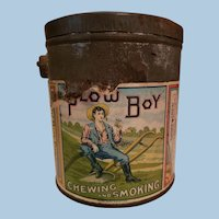 Plow Boy Tobacco Tin Pail
