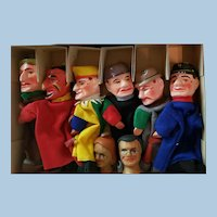 Wonderful Vintage Punch and Judy all original Puppet Set