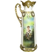 RS Prussia Jewel Mold Melon Eaters Ewer
