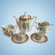 Super Rare Miniature R.S. Prussia Child or Doll Size Tea Set