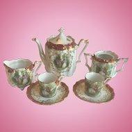 Super Rare Miniature R.S. Prussia Child or Doll Size Tea Set