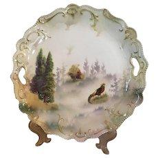 R.S. Prussia Pheasant Scene Plate