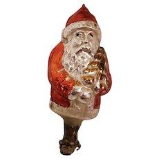 Very Old German Santa Claus Christmas Tree Clip Ornament