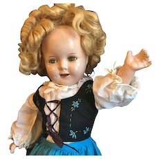 Great Shirley Temple Composition Doll Fully Marked - Red Tag Sale Item
